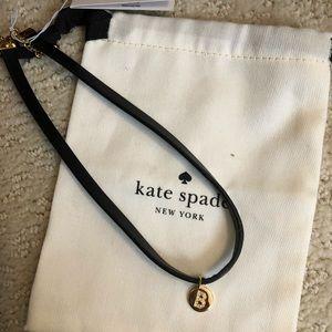 """Brand new Kate Spade """"B"""" choker"""